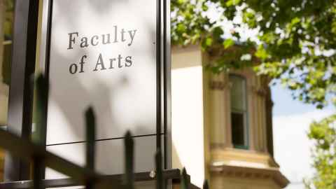 Faculty of Arts sign.