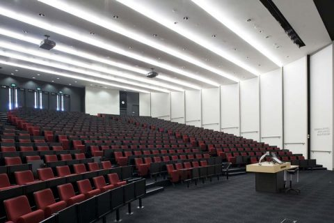 Inside the F&P Auditorium