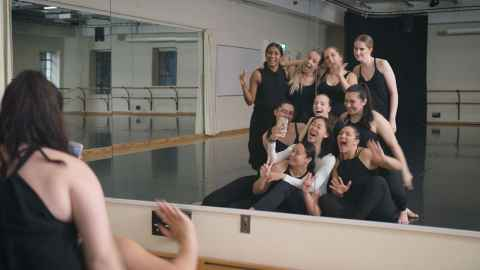 Dance students at the studio
