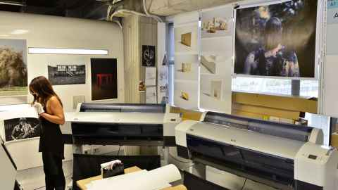 CAI print centre showing printing equipments