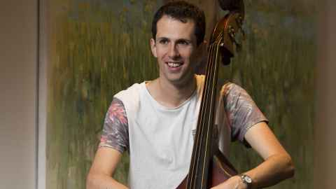 Denholm Orr plays rad licks on the double bass