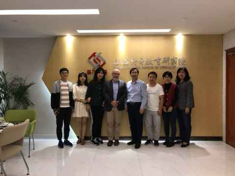 Professor Stuart McNaughton with members of the SMILE group in Shanghai