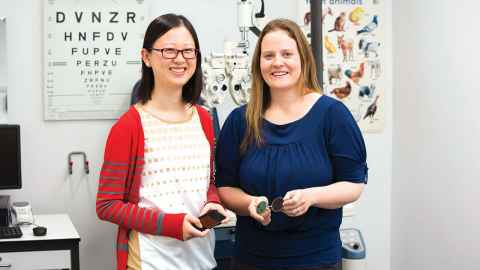 Tina Gao, PhD in Optometry candidate, pictured with one of her supervisors Dr Joanna Black, is a recipient of the University of Auckland Doctoral Scholarship and the HC Russell Memorial Postgraduate Scholarship.