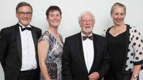 Left to right: Professors Gerard Rowe, Bryony James, Mick Pender, and Rosalind Archer.