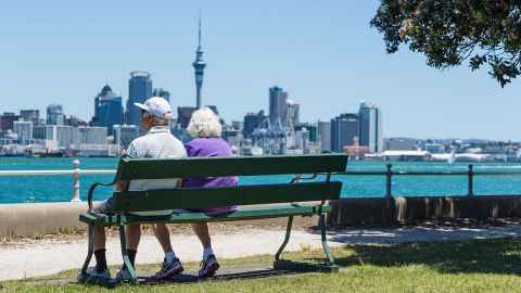 A fairer future for NZ's older couples. Pictured is an older couple looking out over Auckland Harbour. Photo: iStock
