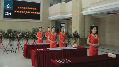 Ceremonial ushers at the launch of Aulin College