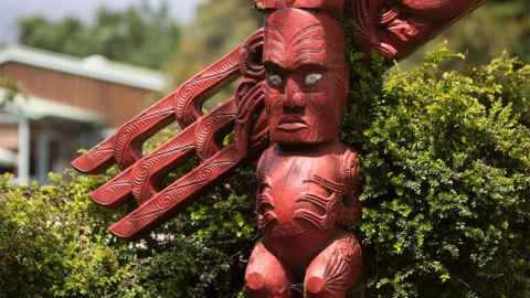 Carving at the Waipapa Marae, University of Auckland.