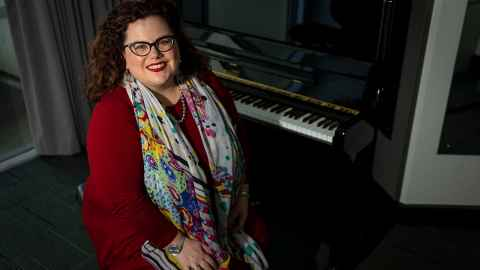 Soprano and lecturer in voice, Dr Morag Atchison.