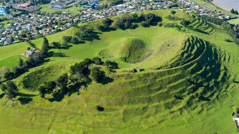 Bruce Hayward's favourite volcano, Mangere Mountain.