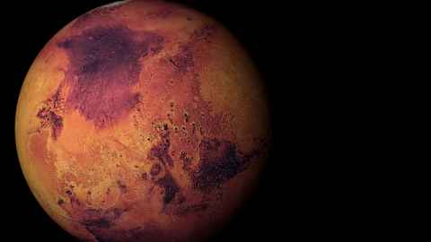 Space facts image of the planet Mars