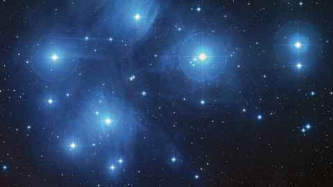 The brightest stars in the Matariki cluster. Photo: Stardome Observatory.
