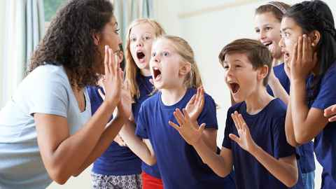"A group of young students are pictured enjoying a drama class with their teacher but, according to Professor O'Connor: ""Visual arts, music, dance and drama, the life blood of a creative education have been systematically dismantled from schools."" Photo: iStock"