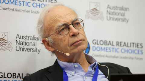 The image shows Peter Singer who's views on disability led to SkyCity in Auckland cancelling a booking for a public lecture in June. Photo: Wikimedia Creative Commons Attribution 2.0 Generic Licence