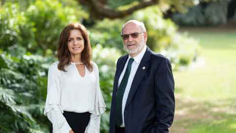 Dr Anne Bardsley and Sir Peter Gluckman