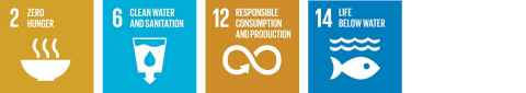 SDGs 2 (Zero hunger), 6 (Clean water and sanitation) and 12 (Responsible consumption and production)