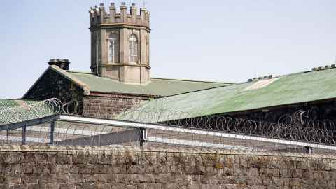 An image shows the rooftop of Mt Eden Prison, Auckland: former inmates released during Covid-19 face difficult times. Photo: iStock