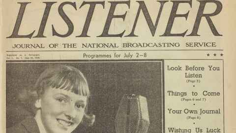 The first edition of The Listener.