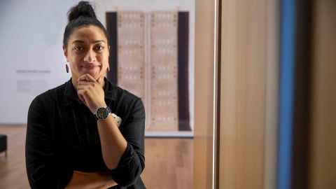Ane Tonga, Pacific Art Curator at Auckland Art Gallery.