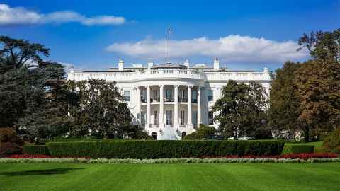The image show the White House in Washington DC: Will Joe Biden by the next to call it home?