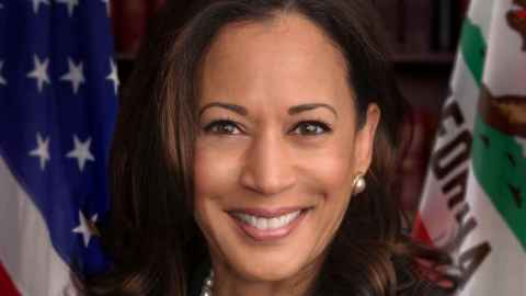 The image shows Kamala Harris, US Vice President-elect. Photo: United States Senate, Public domain, via Wikimedia Commons