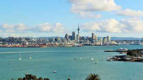 The image shows the outdoor arena of Auckland's Waitematā Harbour: giving maximum views of the America's Cup spectacle from land. Photo: iStock