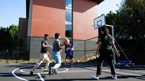 Grafton Hall basketball/netball court