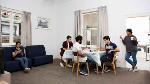 Grafton Student Flats lounge at 50 House