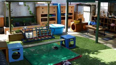Children' benches and shelves