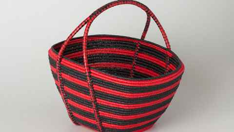 Red and black basket