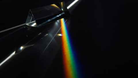 Light through a prism
