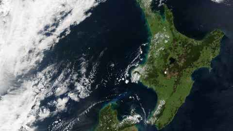 New Zealand from satellite, NASA