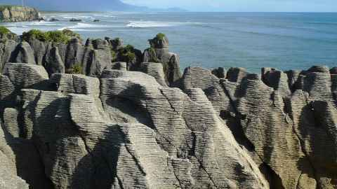 Pancake rocks West Coast New Zealand, Ewan Munro