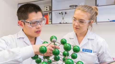 Science scholars use model molecular structure