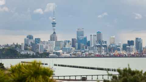 View of Auckland from the harbour.
