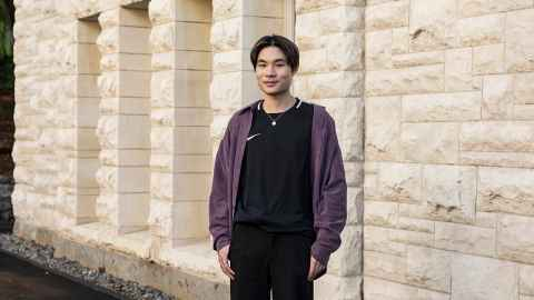 Alex Su photographed outside the ClockTower
