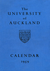 Calendars 1958 1969 The University Of Auckland
