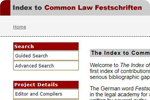 Index to Common Law Festschriften